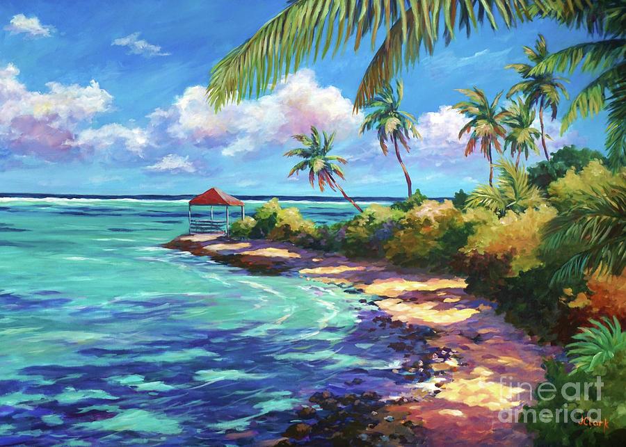 Bermuda Painting -  Cabana Near Over The Edge by John Clark