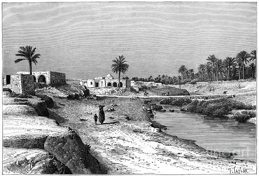 Cabes, Tunisia, 1895.artist Armand Kohl Drawing by Print Collector
