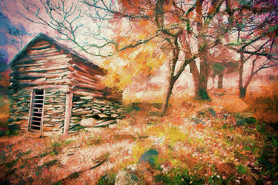 Cabin in an Autumn Fog AP by Dan Carmichael
