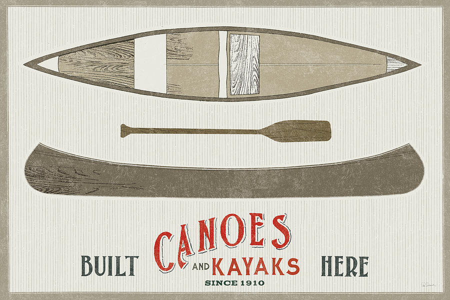 Advertisements Painting - Cabin Life Vii Kayak by Sue Schlabach