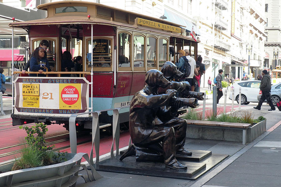 Cable car and Paparazzi Dogs by Dragan Kudjerski