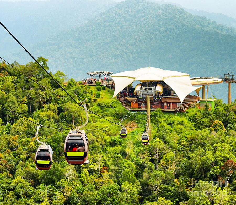 Panoramic Photograph - Cable Car On Langkawi Island, Malaysia by Efired