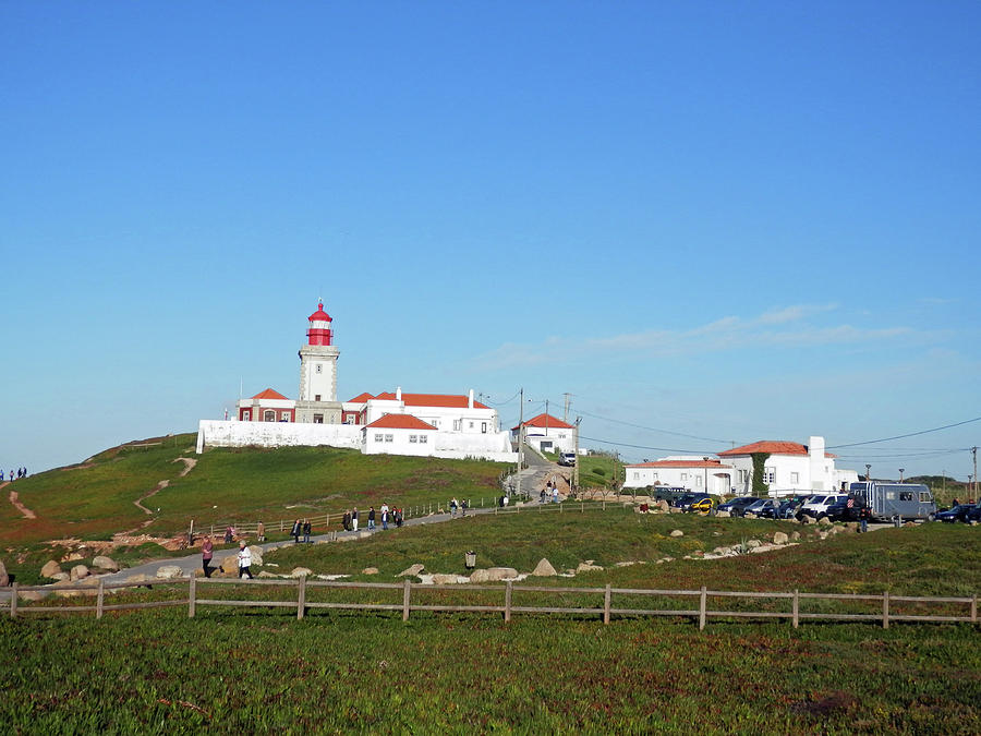 Lighthouse Photograph - Cabo Da Roca Lighthouse, Sintra, Portugal by Pema Hou