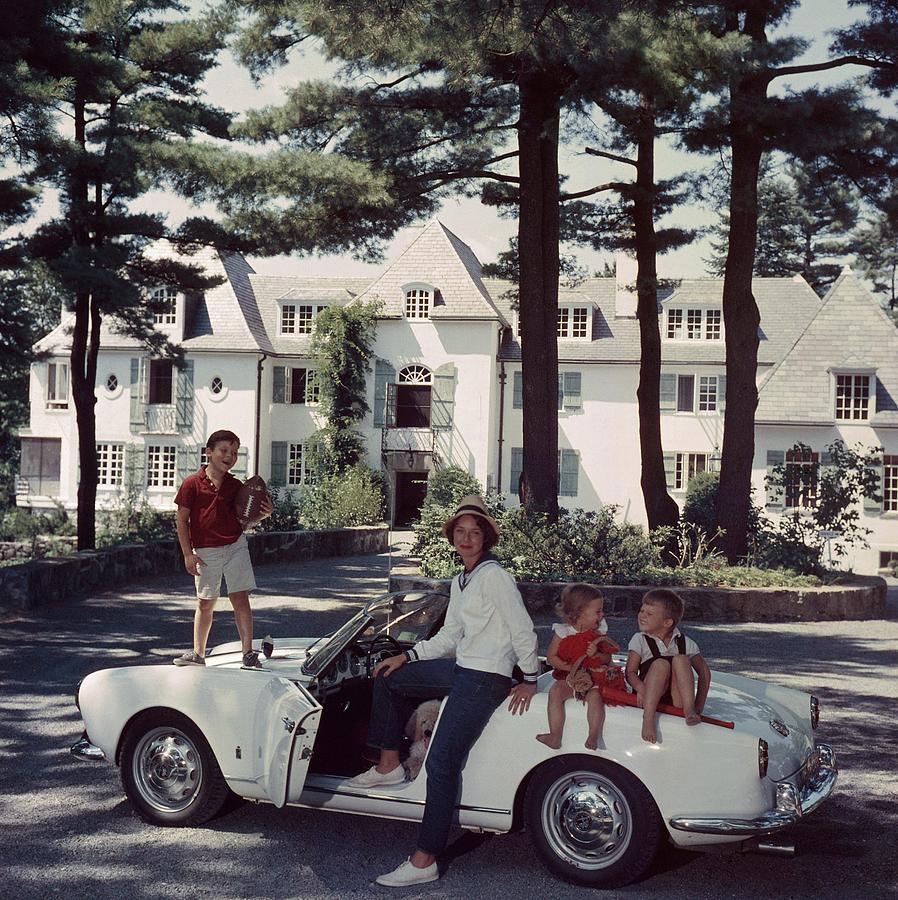 Cabot Family Photograph by Slim Aarons
