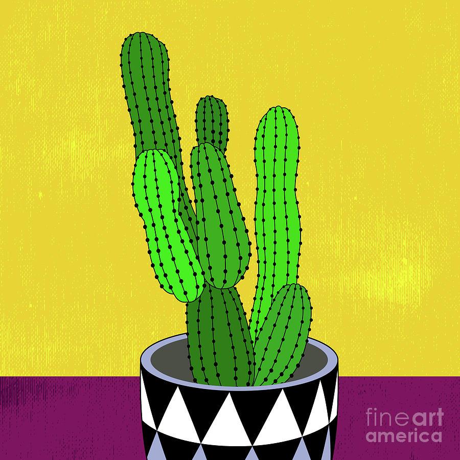 Cactus Art03_pot#5 Digital Art