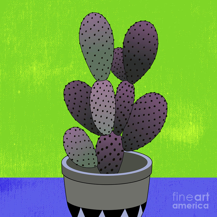 Cactus Art03_pot#6 Digital Art