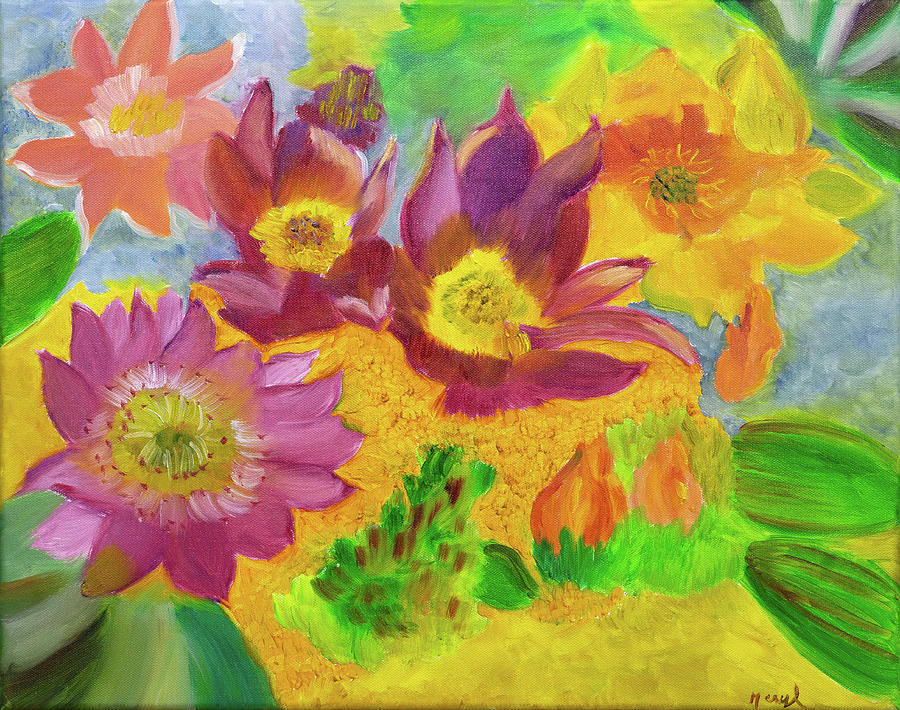 Cactus Blossoms by Meryl Goudey