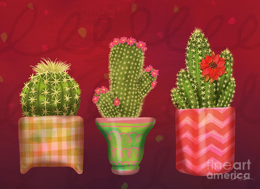 Cactus Friends I by Shari Warren