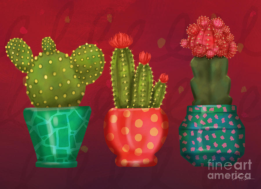 Cactus Friends II by Shari Warren