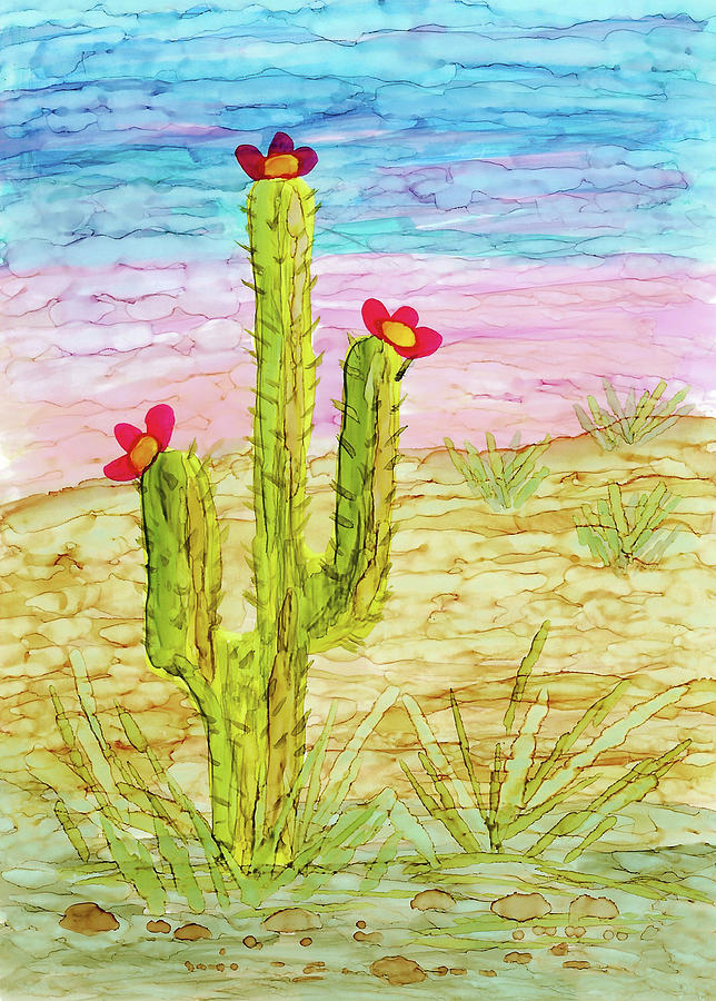 Cactus in the Desert by Susan Campbell