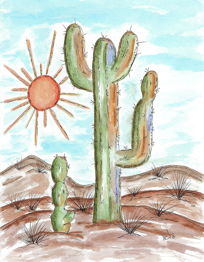 Cactus in the Sun by Susan Campbell