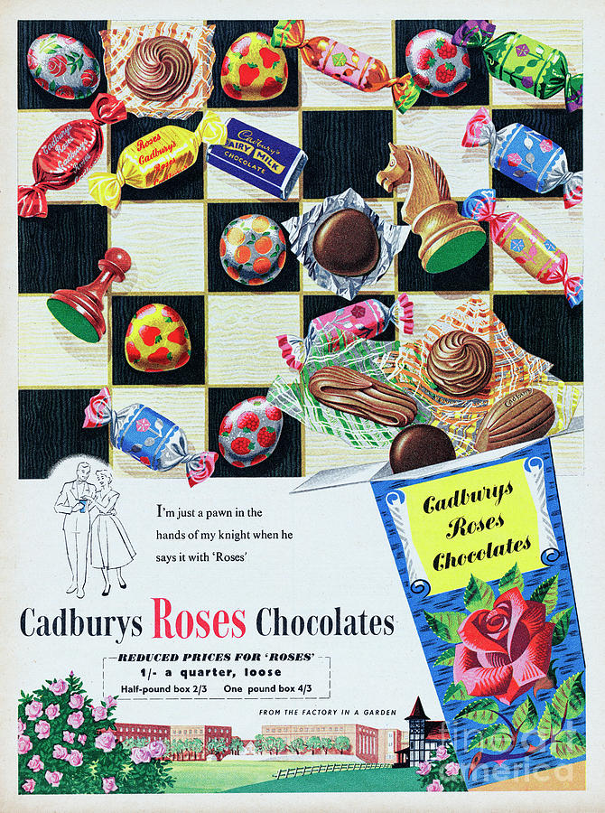 Cadburys Roses Chocolates Photograph by Picture Post