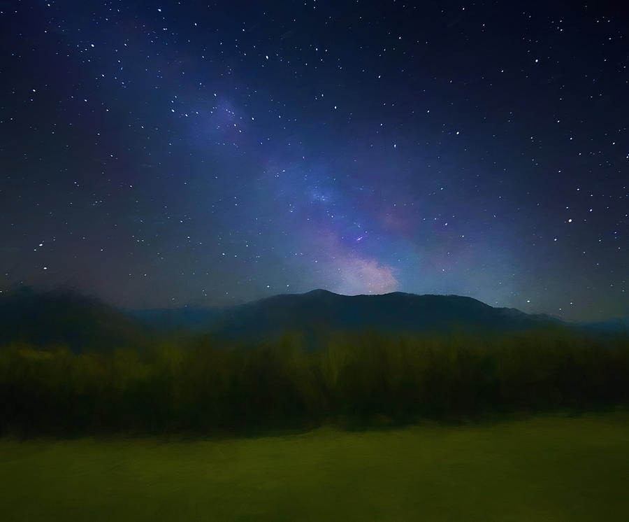 Milky Way Mixed Media - Cades Cove Milky Way by Dan Sproul