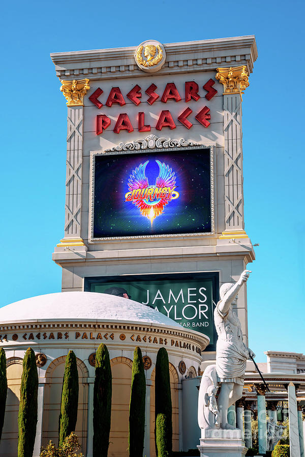 Caesars Palace Sign From The South In The Afternoon by Aloha Art