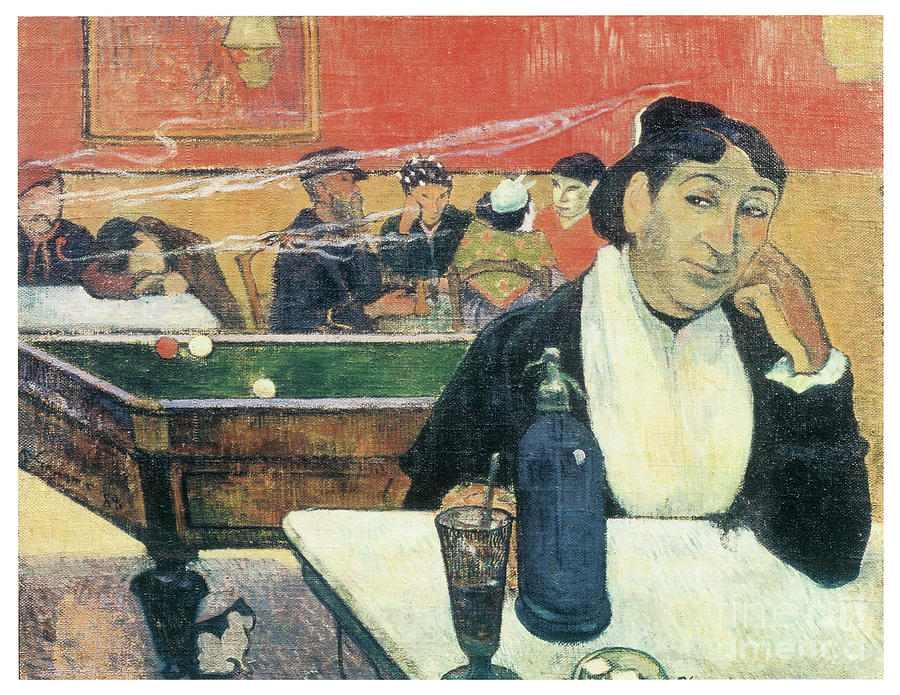 Cafe at Arles by PAUL GAUGUIN
