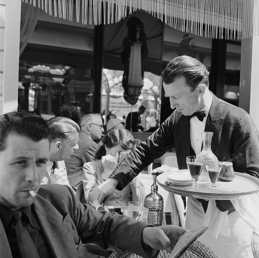 Cafe Culture Photograph by Bert Hardy