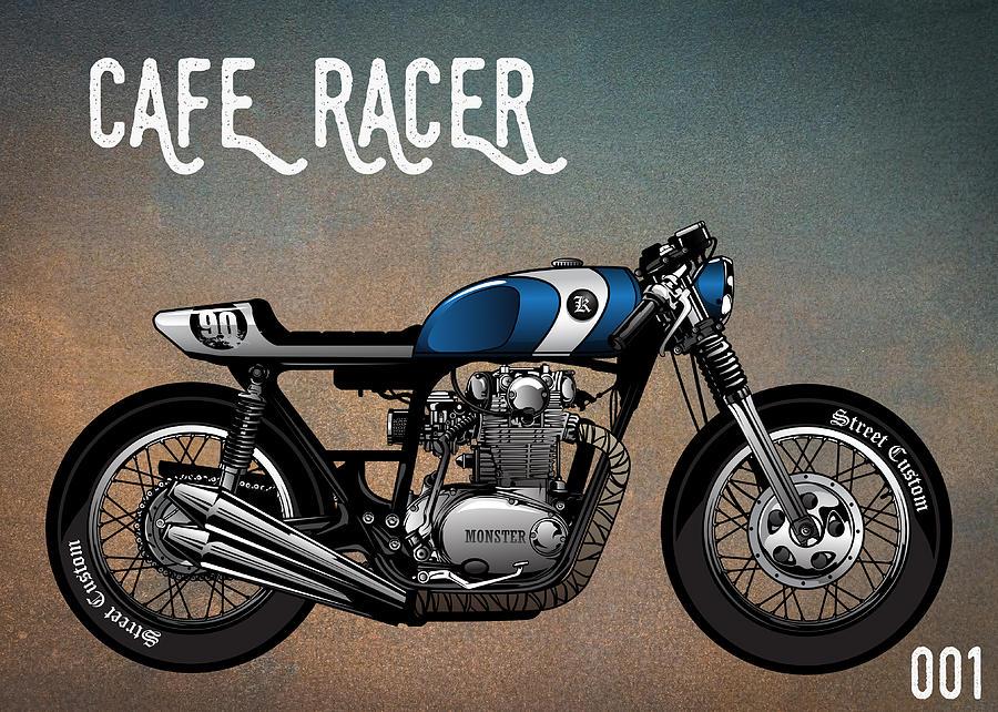 Cafe Racer Vintage Motorcycle 001