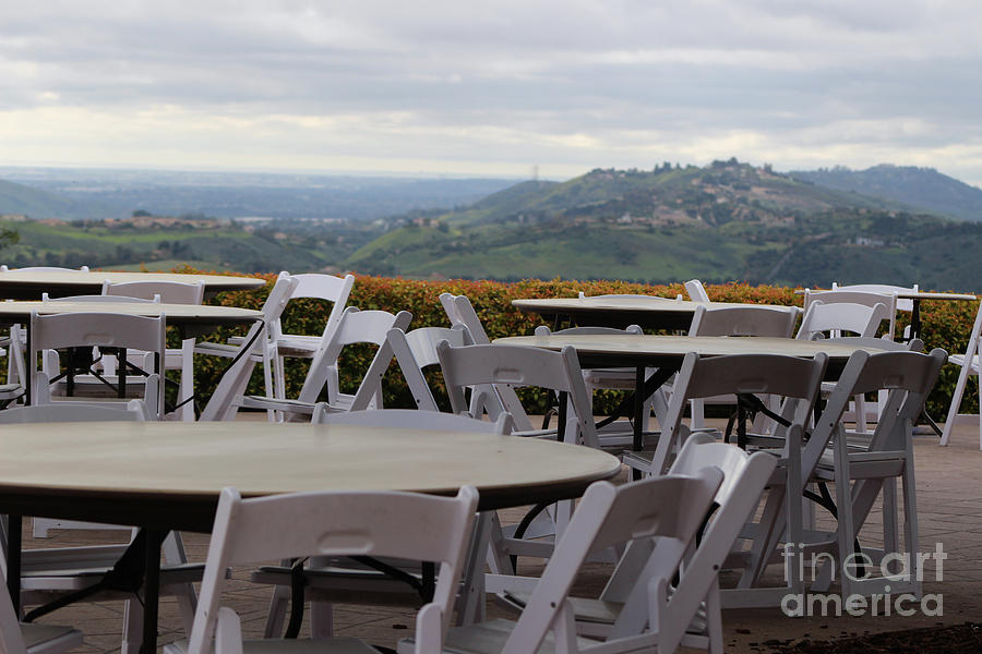 Cafe Seating At Reagan Library Overlooking Simi Valley Photograph