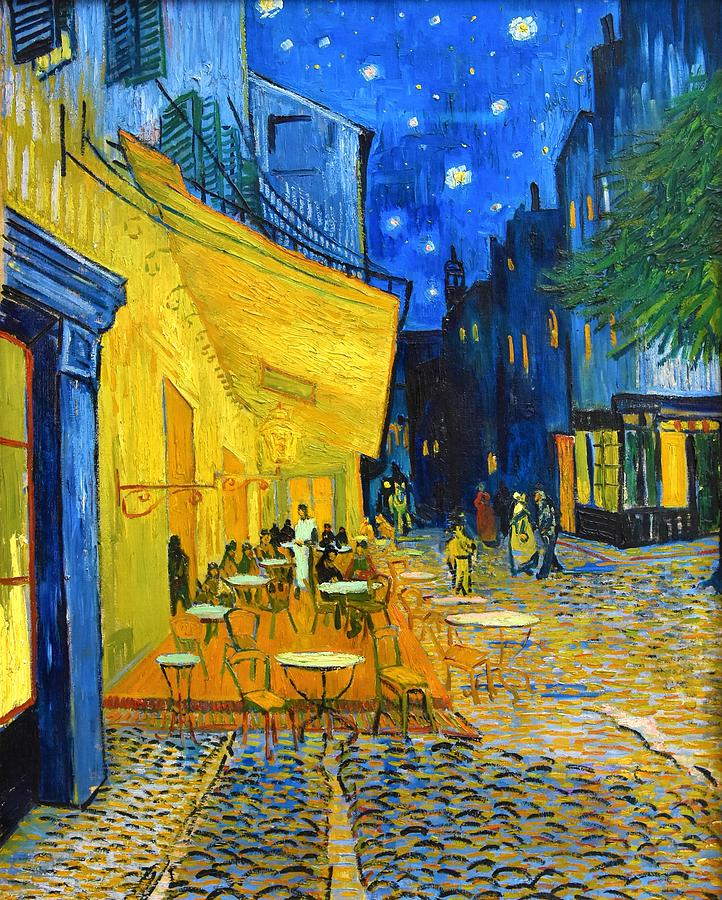 Vincent Van Gogh Painting - Cafe Terrace At Night - Digital Remastered Edition by Vincent van Gogh