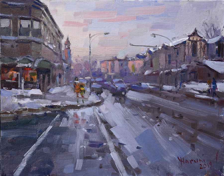 Caffe Aroma Painting - Caffe Aroma At Elmwood Ave  by Ylli Haruni
