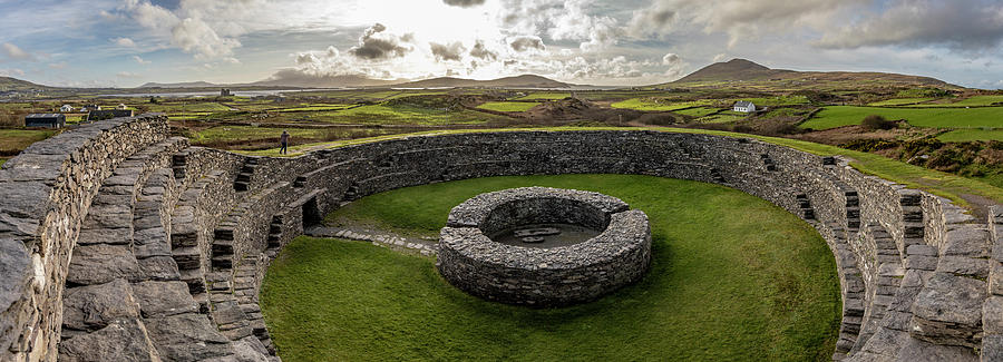 Cahergall Stone Fort Ireland Panaramic  by John McGraw