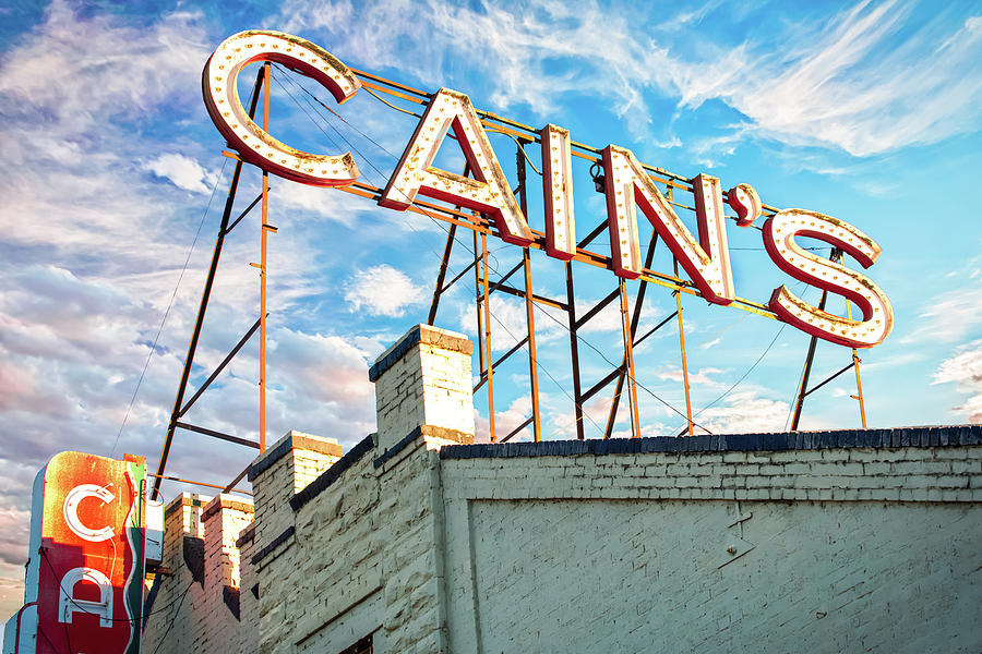 America Photograph - Cains Ballroom Music Hall - Downtown Tulsa Cityscape by Gregory Ballos