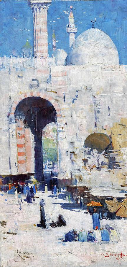 Arthur Streeton Painting - Cairo Street, Or Mosque, Sultan Hassan - Digital Remastered Edition by Arthur Streeton
