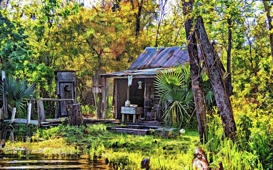 Cajun Cabin 3 - Paint Photograph
