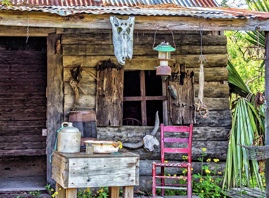 Cajun Cabin Porch Photograph