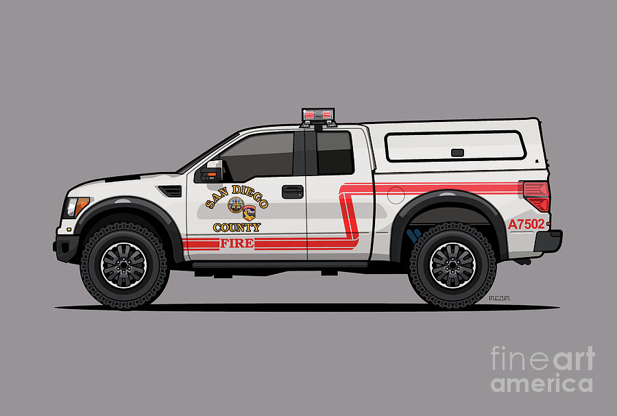 Cal Fire/ San Diego County Fire F0rd Rpt0r 4x4 Fire Truck by Monkey Crisis On Mars