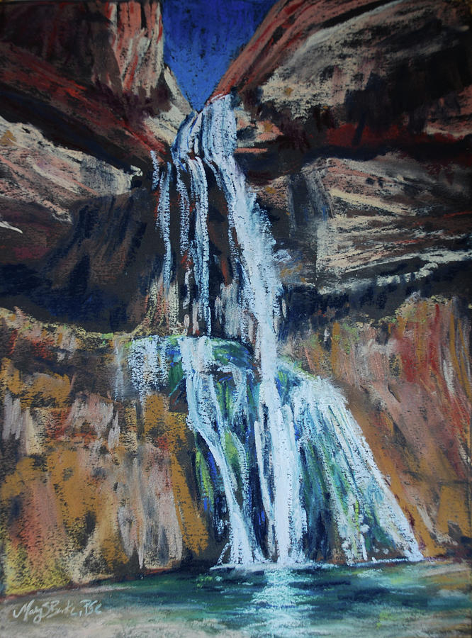 Calf Creek Falls by Mary Benke