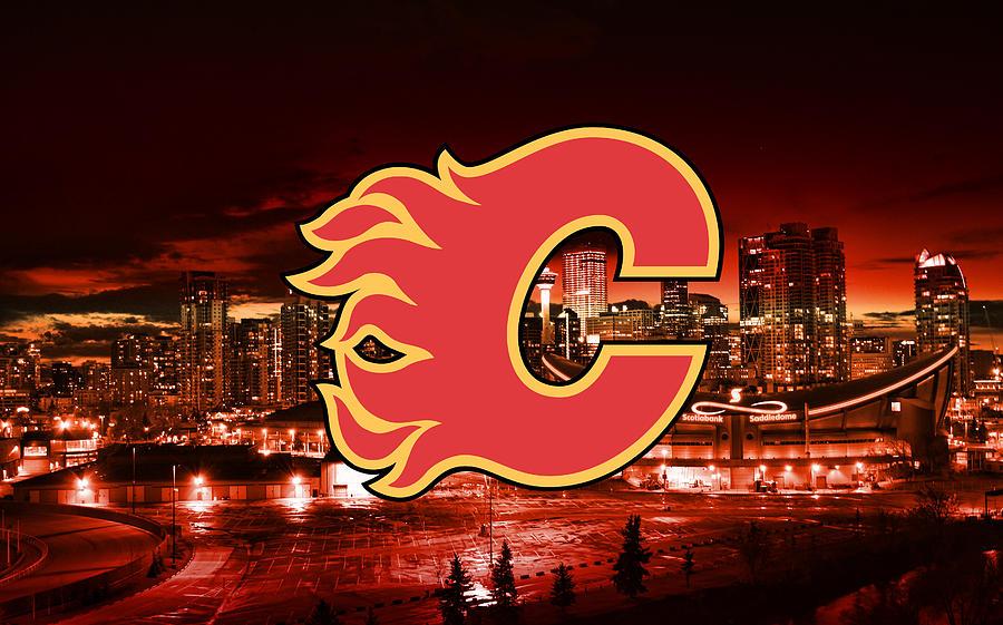Calgary Flames Artwork Og Digital Art By Sportshype Art