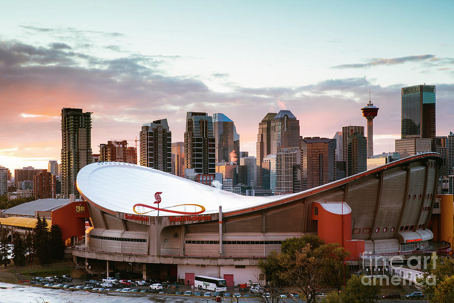 Calgary Saddledome at sunset, Canada by Matteo Colombo