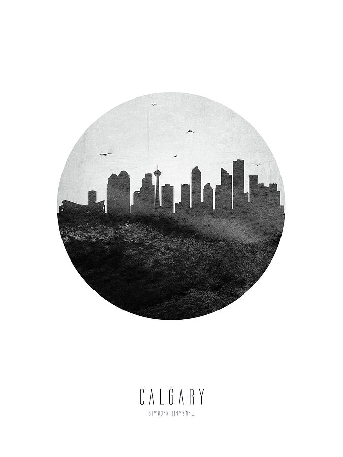 Calgary Digital Art - Calgary Skyline Caabca04 by Aged Pixel