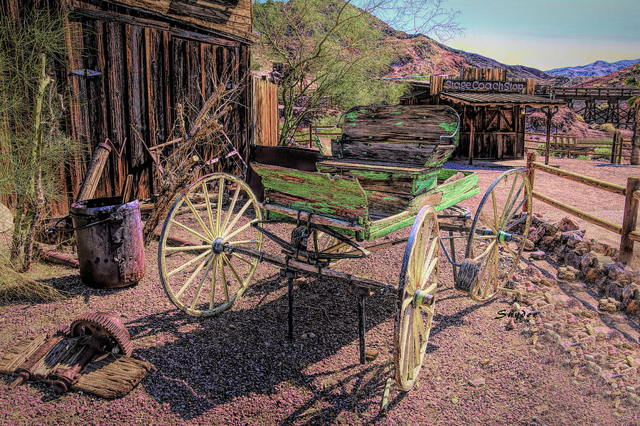 Calico Ghost Town Buckboard by Floyd Snyder