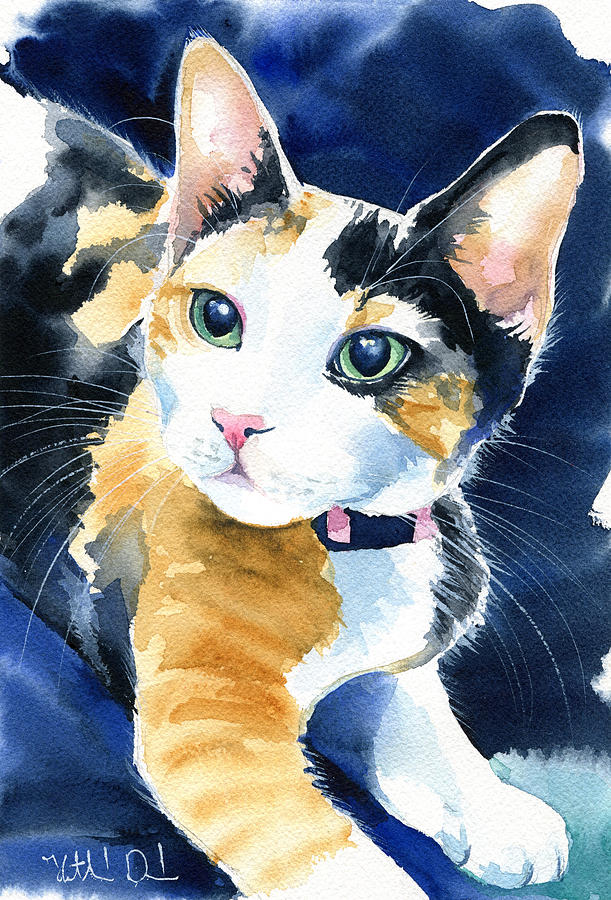 Calico Kitten by Dora Hathazi Mendes