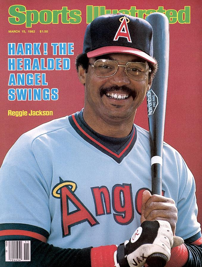 California Angels Reggie Jackson Sports Illustrated Cover Photograph by Sports Illustrated