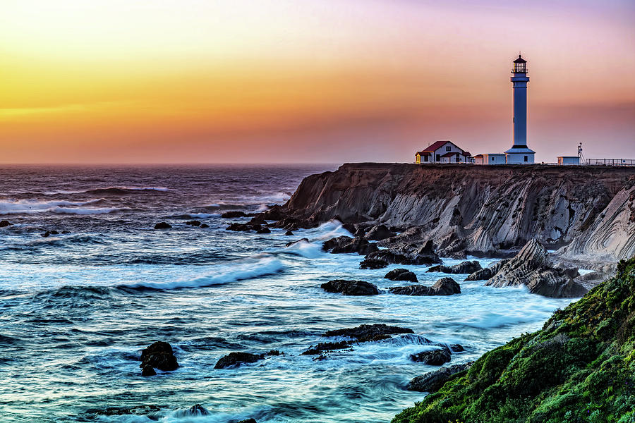 California Coast Lighthouse by Maria Coulson