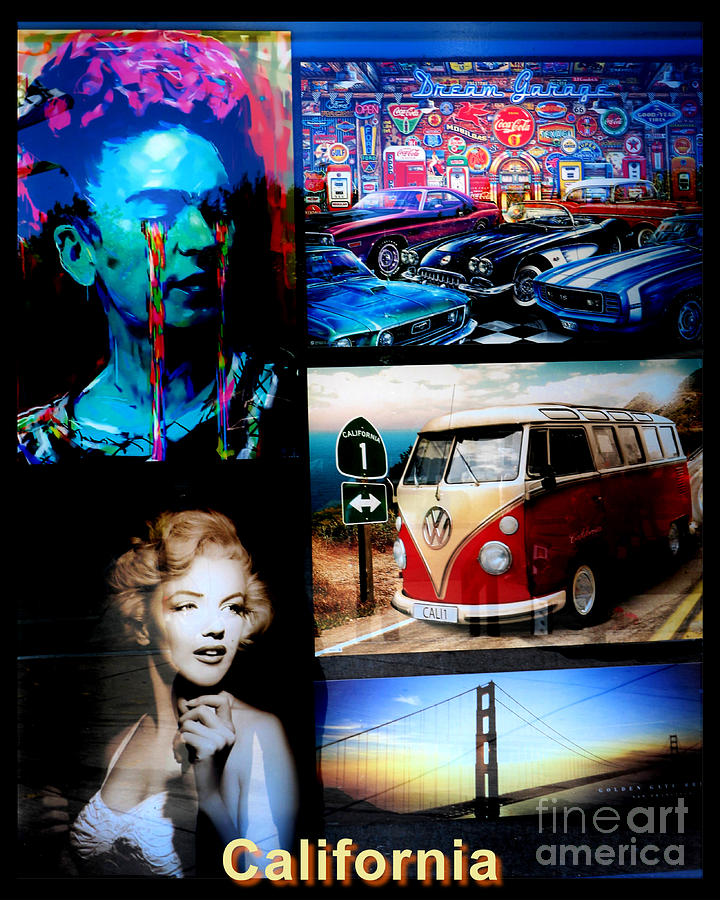 California Art Collage by Diann Fisher