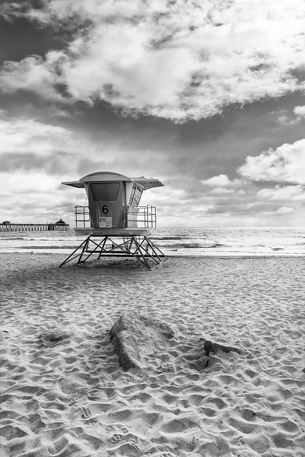 San Diego Photograph - California Imperial Beach - Monochrome by Melanie Viola