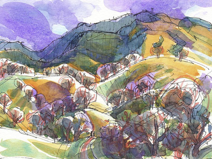 California Landscape with Mount Diablo by Judith Kunzle