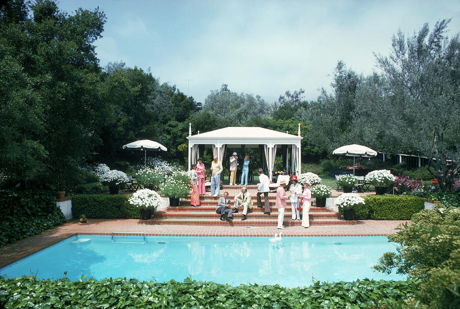 California Pool Party Photograph by Slim Aarons