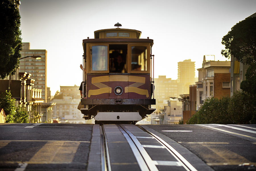 California Street Cable Car Photograph by Hal Bergman Photography