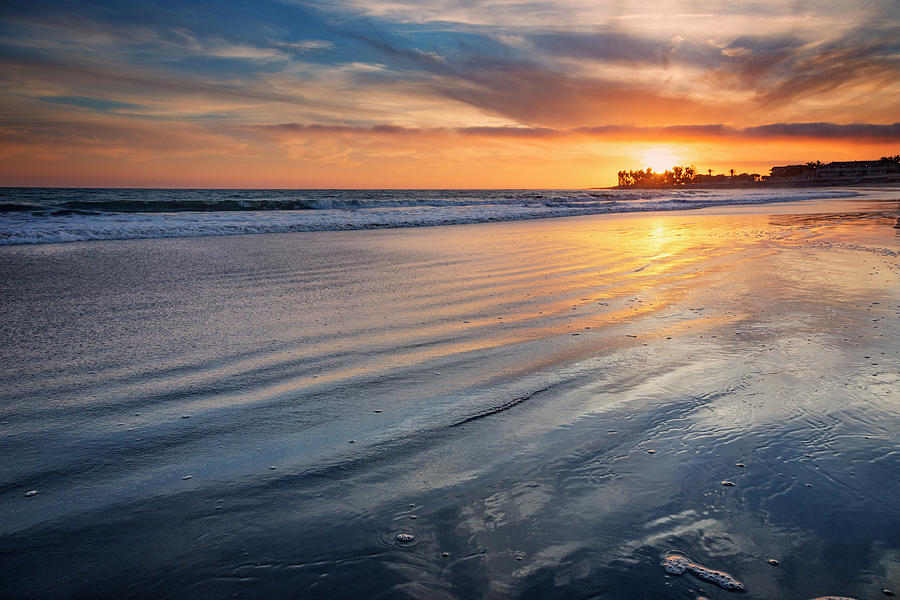 Beach Photograph - California Sunset V by Ricky Barnard