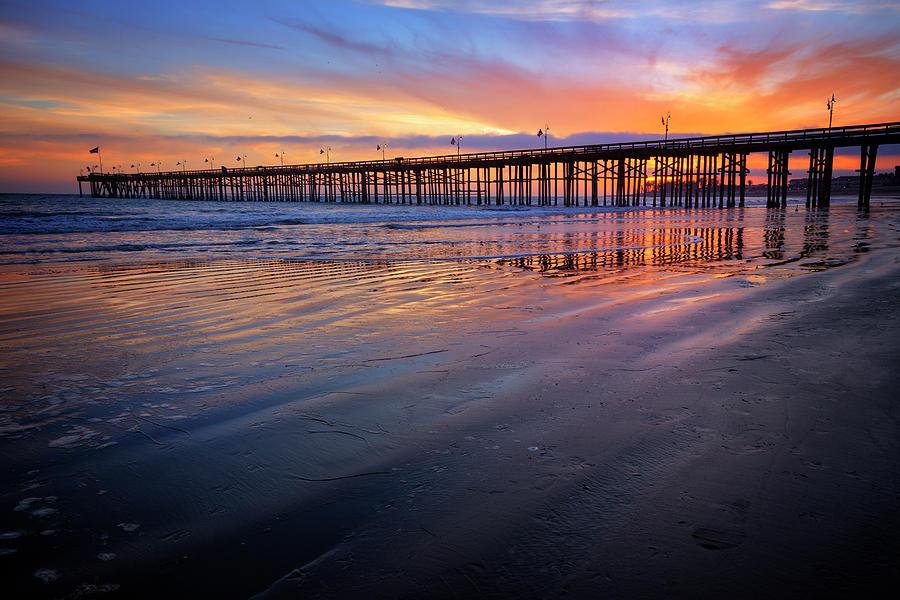 Beach Photograph - California Sunset Vii by Ricky Barnard