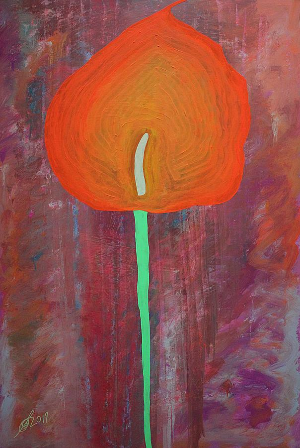 Calla Lily original painting by Sol Luckman