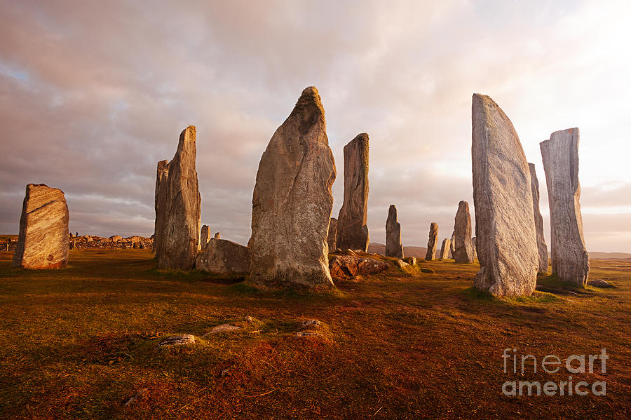 Dusk Photograph - Callanish Standing Stones Neolithic by Unknown1861