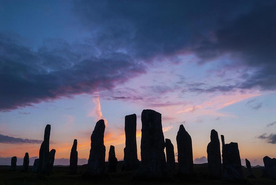 Callanish Photograph - Callanish Stone Circle, dramatic sky by David Ross