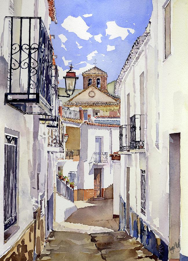 Street Painting - Calle De Cherin by Margaret Merry