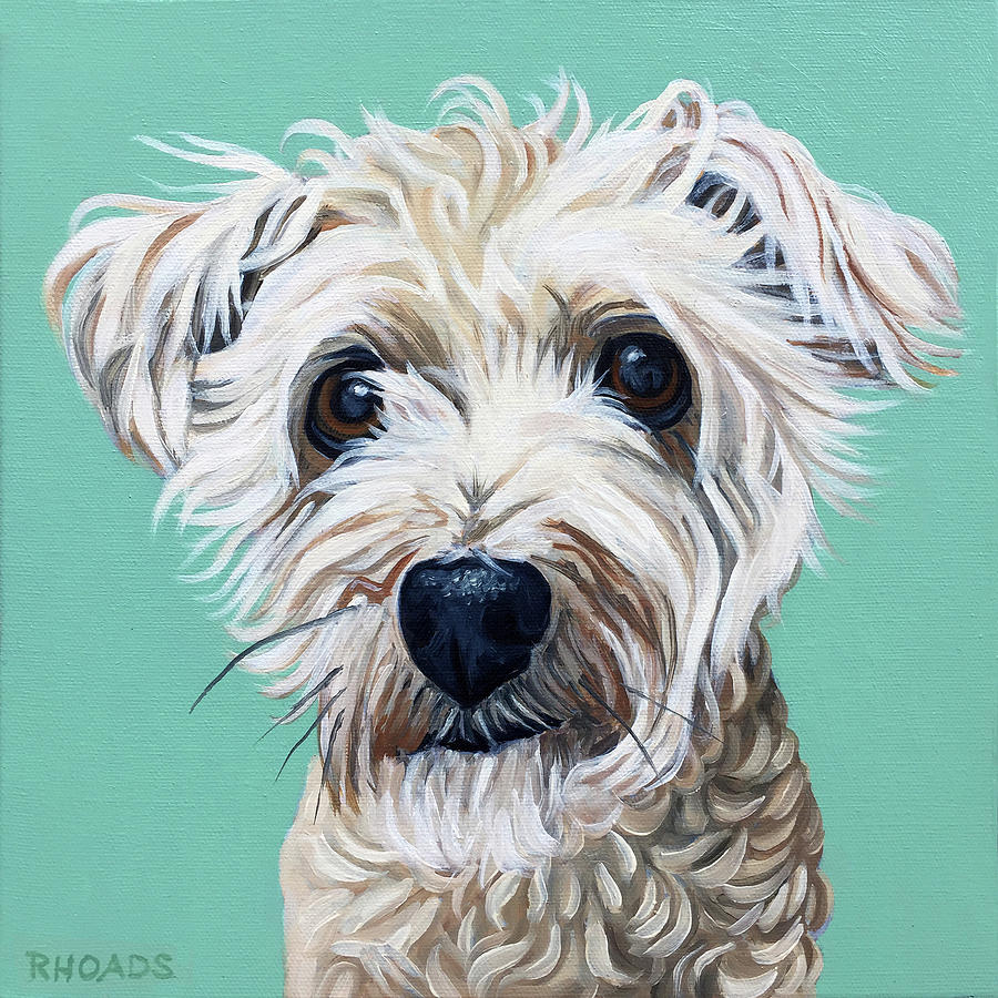 Dog Portrait Painting - Callie J by Nathan Rhoads
